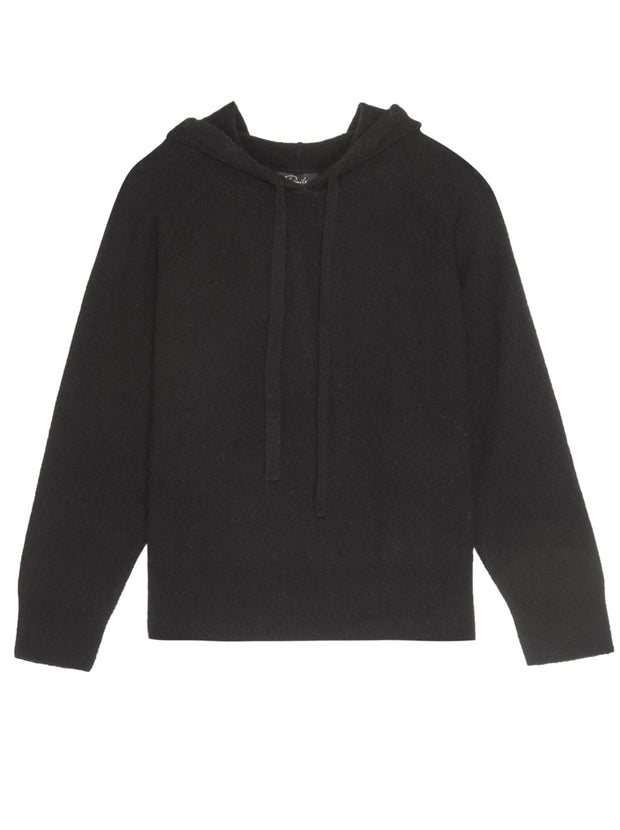 Aster Hooded Cashmere-Blend Pullover - Black