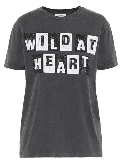 Wild At Heart Vintage Tee - Washed Black