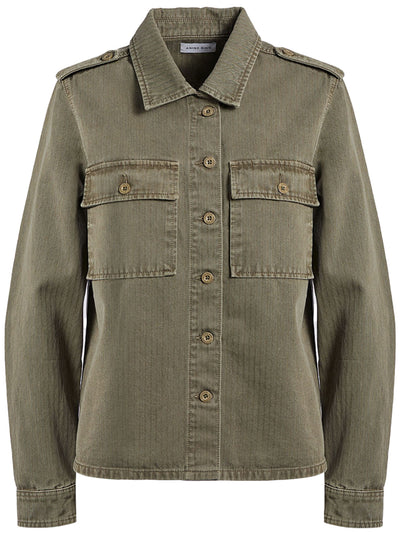 Cameron Cotton Shirt Jacket - Army Green