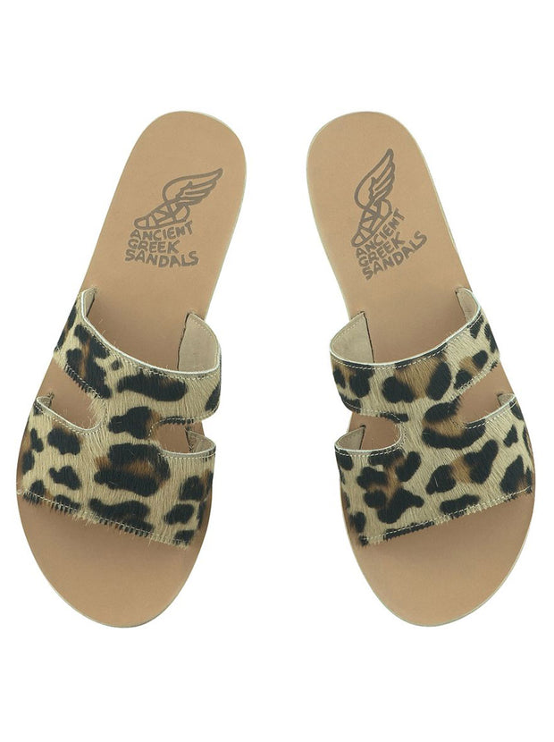 Apteros Calf-Hair Leather Sandal - Pony Leopard