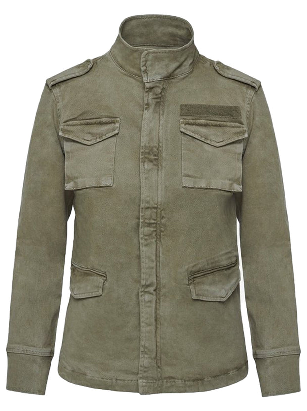 Army Stretch-Cotton Jacket - Khaki
