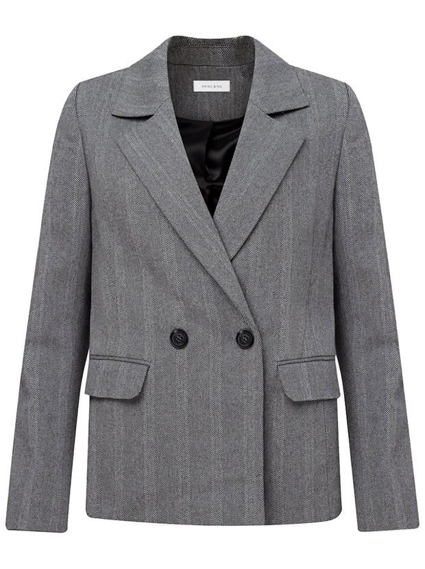 Becky Fishbone Blazer - Grey