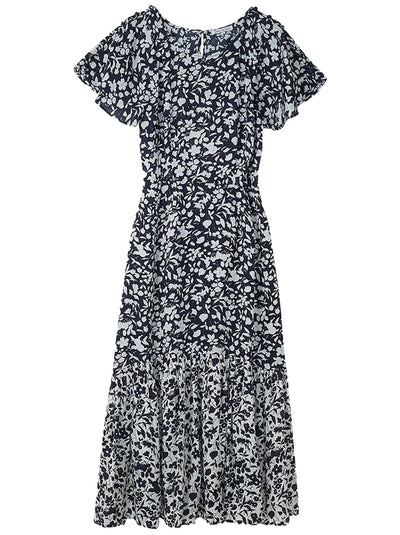Rae Floral Printed Dress - Blossom Navy