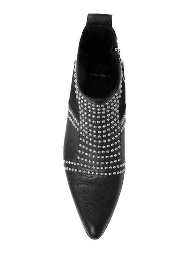 Charlie Studded Boots - Black/Silver