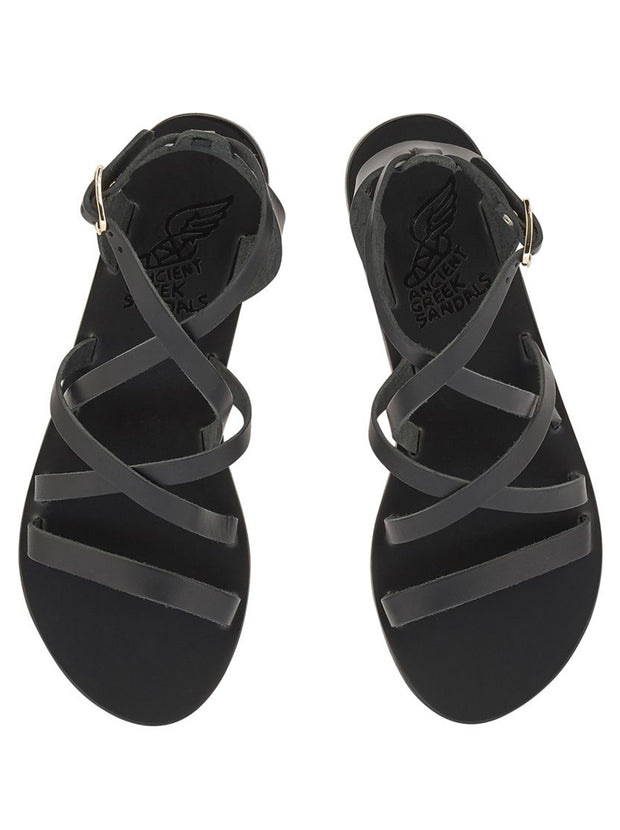 Delia Leather Sandal - Black