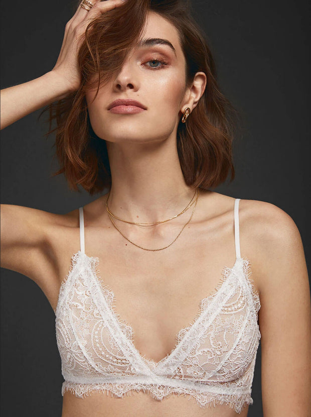 Lace Bra With Trim - Ivory