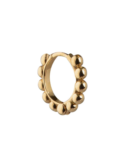 Gold Ball Huggie Earring - Gold