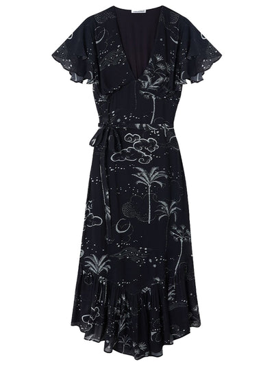 Drew Printed Dress - Mystic Palm