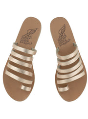 Niki Leather Sandal - Pink Metal /Sand