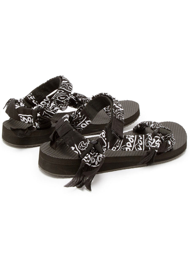 Trekky Bandana Sandals - Black