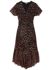 Drew Printed Dress - Wild Cat