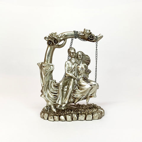 Silver Couple on swing