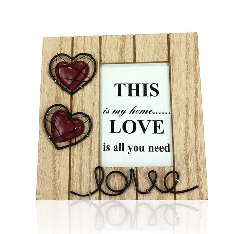 wooden hand crafted picture frame