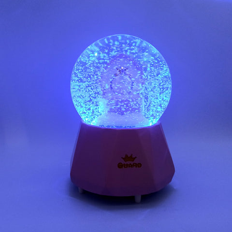 Pink Snow Globe with LED light