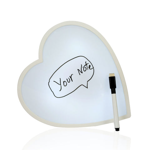 Heart Shaped White Board with Light
