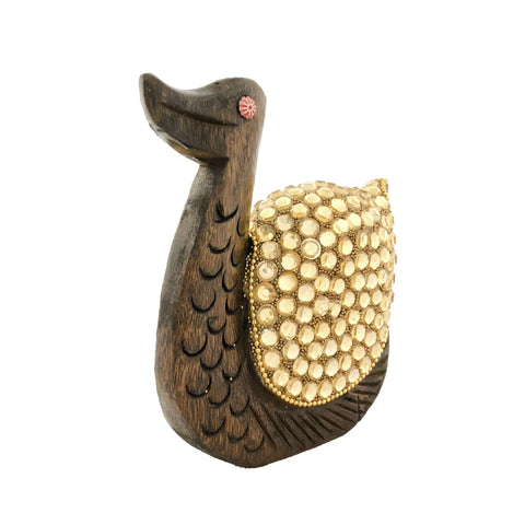 Wooden craved Duck Showpiece for Home