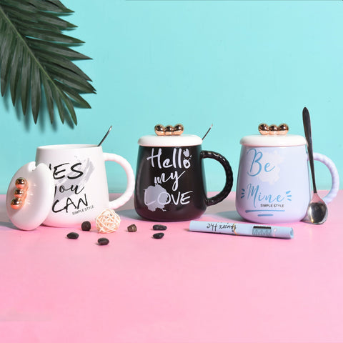 Couples Multicolor printed Cups