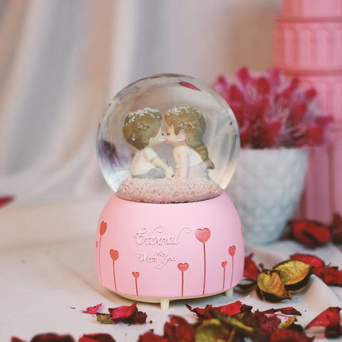 glass ball for couples as a gift