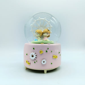 Cute Musical Crystal Snow Ball of Joy Lovely Gift for Couple
