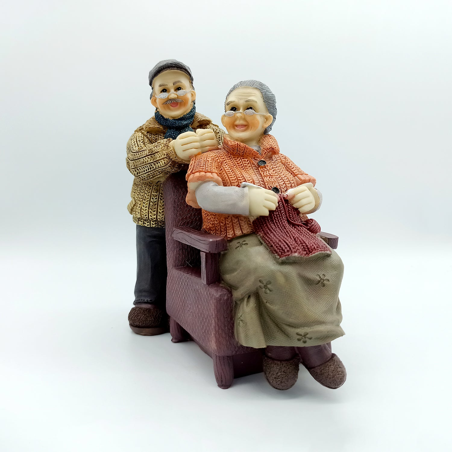 Copy of Cute Grandparents Together - Lovely Couple Figurine Gift for Old Couple
