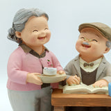 Cute Grandparents Celebrating, Lovely Couple Figurine Gift for Old Couple