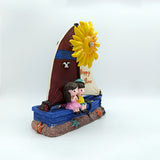 Lovely Couple in Sailing Boat Decorative Windmill - Gift for Couple/Lovers