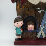 Cute Lovers & A Windmill House - Bedroom Decorative Gift for Couple