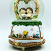 Cute Couple Together - LED Crystal/Glass Music Dome