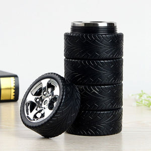 Tyre Thermos with cover | Funky gifts for friends