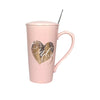 Love you so much | Premium Coffee Mug with Lid & Spoon