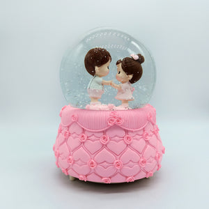 Me & U Cute Musical Crystal Snow Ball Gift for Couple