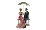 Lovely Couple Together Polyresin Figurine Gift for Lovers