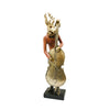 Golden Guitar with a reindeer guitarist decorative figurine