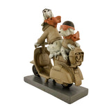 Cute Puppies Riding Scooter, Interior Decoration Gift