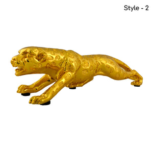 Jaguar in Golden & Silver Color Figurine | Fridge accessories
