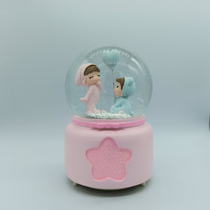 Cute Lovers Together, Musical Snow Ball: Gift for Young Couple
