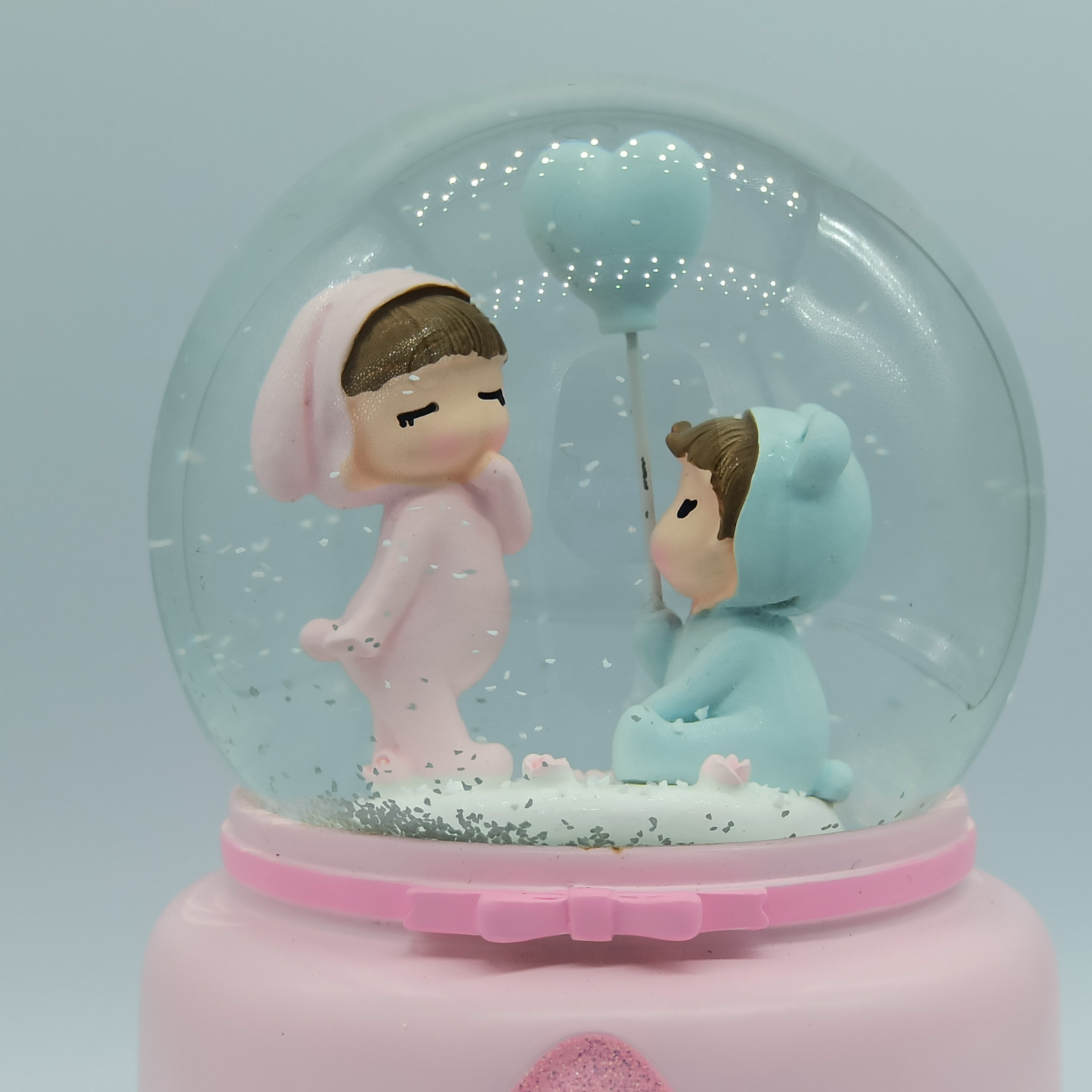 The Love Story: Cute Lovers Snow Ball, Gift for Couple