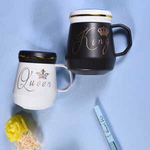 The King & Queen Mugs | Elegant Coffee Mugs for Couple