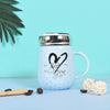 Cool quoted Mugs for Couple - Mugs with Lid & Biscuit Holder