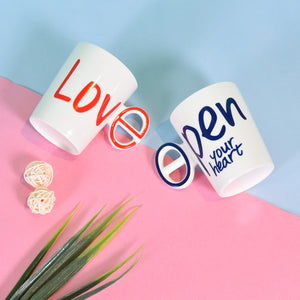 3D Duplex Creative Mugs: Love Conversation starter Mugs for Couple (Set of 2)