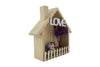 Wooden Hut, Cute Lovers Inside Decorative gift for Couple