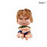 Angry Girl Doll Bobblehead | Quirky Decor