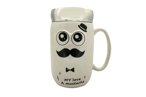 Cool Moustache Man Ceramic Mug for Boyfriend
