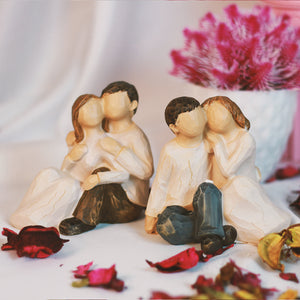 Cute Willow Tree Craft Look couple Figurine Gift for Couple