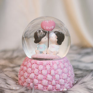 The Flowery Crystal ball: Musical Snow Dome Gift for Couple