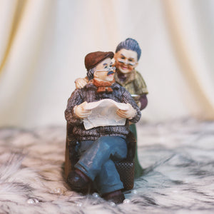 Cute Old Couple- Lovely Couple Figurine Gift for Grandparents