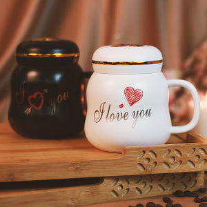 I love you Coffee Mug with Lid | Gift for Couple/Lovers