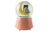 Couple Sitting on Moon, Decorative Musical LED Snow Dome
