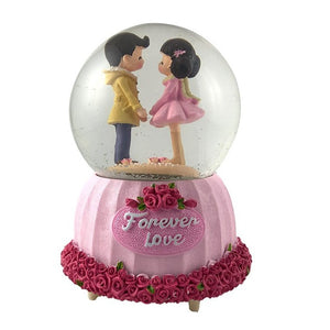 Forever Love Couples Snowball Crystal Dome Gift for Couple