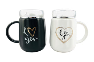 I 💖 You Mugs Set of 2 : Gift for Couples